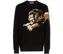 Pullover mit Löwen-Print