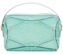 faceted clutch bag
