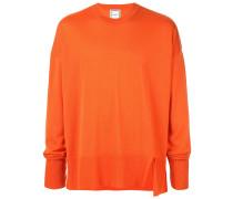 Oversized-Pullover mit Schlitzen