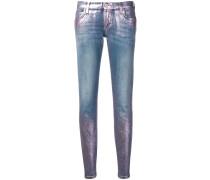 Jeans im Metallic-Look
