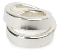 Verbundene Ringe aus Silber