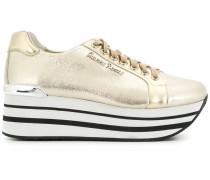 metallic platform sneakers