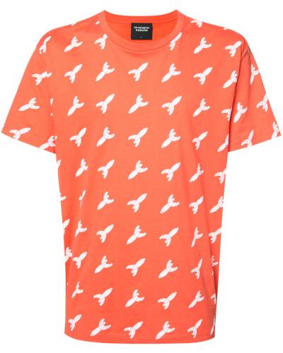 T-Shirt mit Raketen-Print