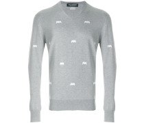 Pullover mit Fledermausmotiv
