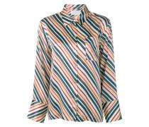 Seidenhemd mit Streifen