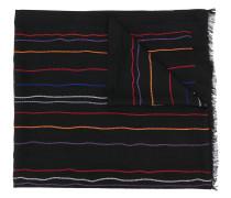 Schal mit Kettenstickerei