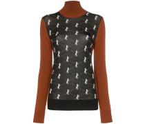Intarsien-Pullover mit Pferdemotiv