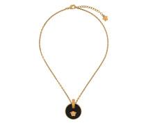 black medallion Medusa necklace