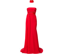 Royce neck cuff gown