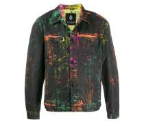 Jeansjacke mit Graffiti-Effekt