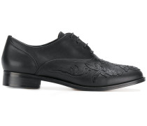 embroidered front brogues