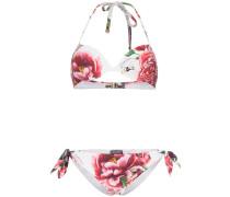 Triangel-Bikini mit Blumen-Print