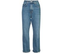 Hoch sitzende Cropped-Jeans