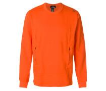 flank pocket crew neck sweatshirt