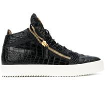 'Kriss' Sneakers mit Kroko-Effekt