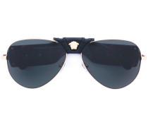 Pilotenbrille mit getönten Gläsern
