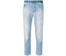 'Elios' Cropped-Jeans in Destroyed-Look