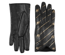 Handschuhe mit Doppel G und Streifen