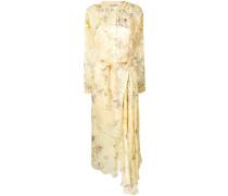 Geblümtes Kleid mit Gürtel