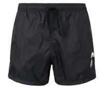 Karlito-embroidered swim shorts