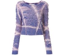 Cropped-Pullover mit Farbkontrasten