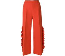 wide-leg ruffle trousers