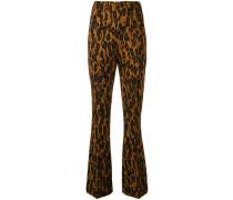 Schlaghose mit Leoparden-Print