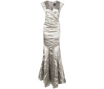 crumpled effect gown