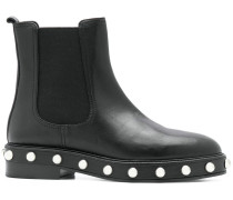 pearl-embellished ankle boots