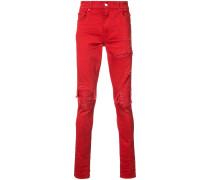 'MX1' Jeans mit Leder-Patch