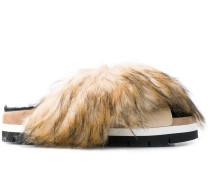 Pantoletten mit Faux Fur