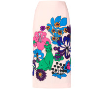 Reglisse printed midi skirt