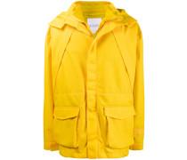 Wattierte Jacke im Lagen-Look