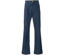 Bootcut-Jeans mit Logo-Patch