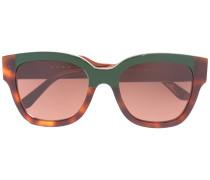 Sonnenbrille mit Colour-Block-Optik
