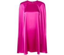satin mini cape dress
