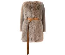 belted fur coat