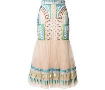 Maze flared skirt