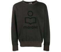 Sweatshirt mit texturiertem Logo