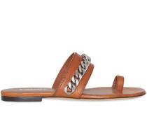 Sandalen mit Kettendetail