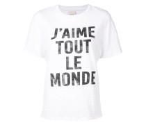 T-Shirt mit ''J'aime Tout Le Monde''-Print