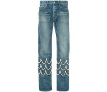 pearl scallop jeans