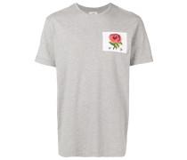 T-Shirt mit Rosen-Patch