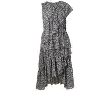 Asymmetrisches Kleid mit Rüschen