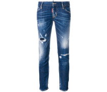 'Super Skinny' Cropped-Jeans