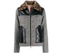 Tweed-Jacke mit Fischgrätenmuster