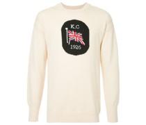 Intarsien-Pullover mit Flaggenmotiv