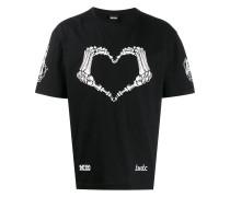 T-Shirt mit Skelett-Herz