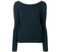 Pullover mit kontrastierendem Kragen