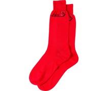 Socken mit Intarsien-Logo